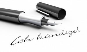 Ich kündige! - Stift Konzept