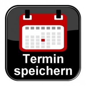 Glossy Button schwarz - Kalender: Termin speichern